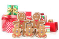 Gingerbread Family at Christmas Time Royalty Free Stock Image