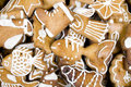 Gingerbread figures Stock Images