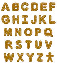Gingerbread Font Letters Stock Images