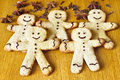 Gingerbread of the gingerbread man Stock Photos