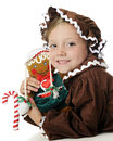 Gingerbread Girl Impersonators Royalty Free Stock Images
