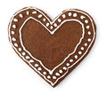 Gingerbread heart Royalty Free Stock Photos