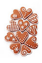 Gingerbread hearts Stock Images