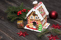 Gingerbread house, Christmas decoration Royalty Free Stock Photo