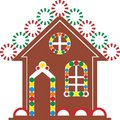 Gingerbread house color 03 Stock Image