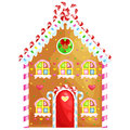 Gingerbread house decorated candy icing and sugar.christmas cookies, traditional winter holiday xmas homemade baked
