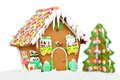 Gingerbread house isolated Stock Images