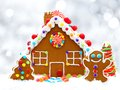 Gingerbread House With Silver ...