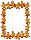 Gingerbread Man Border or Frame Royalty Free Stock Photos