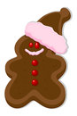 Gingerbread man christmas vector illustration creative conceptual drawing art of cartoon Royalty Free Stock Image