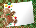 Gingerbread Man Cookie Background Royalty Free Stock Image