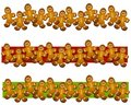 Gingerbread Man Cookie Borders Royalty Free Stock Photo