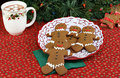 Gingerbread man cookies Royalty Free Stock Image