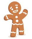 Gingerbread man illustration of smiling isolated Royalty Free Stock Image