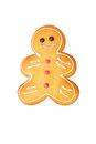 Gingerbread man, isolated isolated on white background Royalty Free Stock Photo