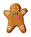 Gingerbread man isolated on a white Royalty Free Stock Photo