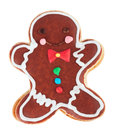 Gingerbread man isolated on white background Royalty Free Stock Photo
