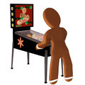 Gingerbread Man Pinball Royalty Free Stock Images