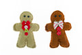 Gingerbread man set of handmade isolated on a white background Royalty Free Stock Image