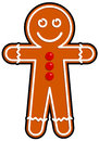 Gingerbread man vector drawing of a Royalty Free Stock Image