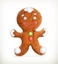 Gingerbread man, vector icon