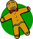Gingerbread man vector illustration Royalty Free Stock Photos
