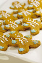 Gingerbread men cookies Royalty Free Stock Photography