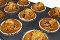 Gingerbread muffins in cups Stock Images