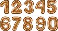Gingerbread numbers Stock Images