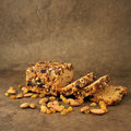Gingerbread with nuts and raisins Royalty Free Stock Photos