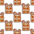 Gingerbread presents seamless pattern for christmas and new year holiday design Royalty Free Stock Image