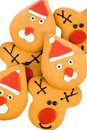 Gingerbread reindeer, santa Royalty Free Stock Images