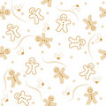 Gingerbread seamless pattern christmas Stock Photos