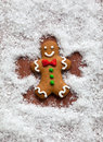 Gingerbread Snow Angel Royalty Free Stock Photo