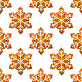 Gingerbread snowflakes seamless pattern for holiday design Stock Photo