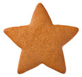 Gingerbread Star Cookie Royalty Free Stock Photo