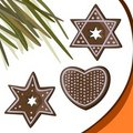 Gingerbread stars, heart Royalty Free Stock Photo