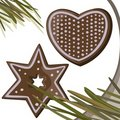 Gingerbread stars, heart Royalty Free Stock Photos