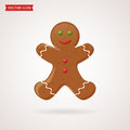 Gingerbread vector icon.