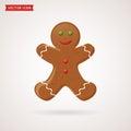 Gingerbread vector icon.
