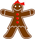 Gingerbread Woman Stock Photo