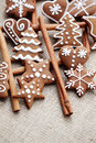 Gingerbreads with cinnamon Stock Photos