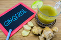 Gingerol, an active constituent of fresh ginger. Royalty Free Stock Photo