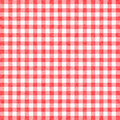 Gingham background red tablecloth or texture Stock Photo