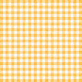Gingham background yellow tablecloth or texture Stock Photo