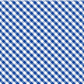 Gingham Cross Weave, Blue, Seamless Background Stock Photo