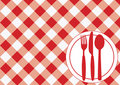 Gingham Menu Card Stock Photo