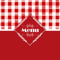 Gingham pattern menu design stylish with a style Royalty Free Stock Images