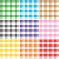 Gingham patterns Royalty Free Stock Photos