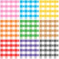 Gingham patterns spring Royalty Free Stock Images